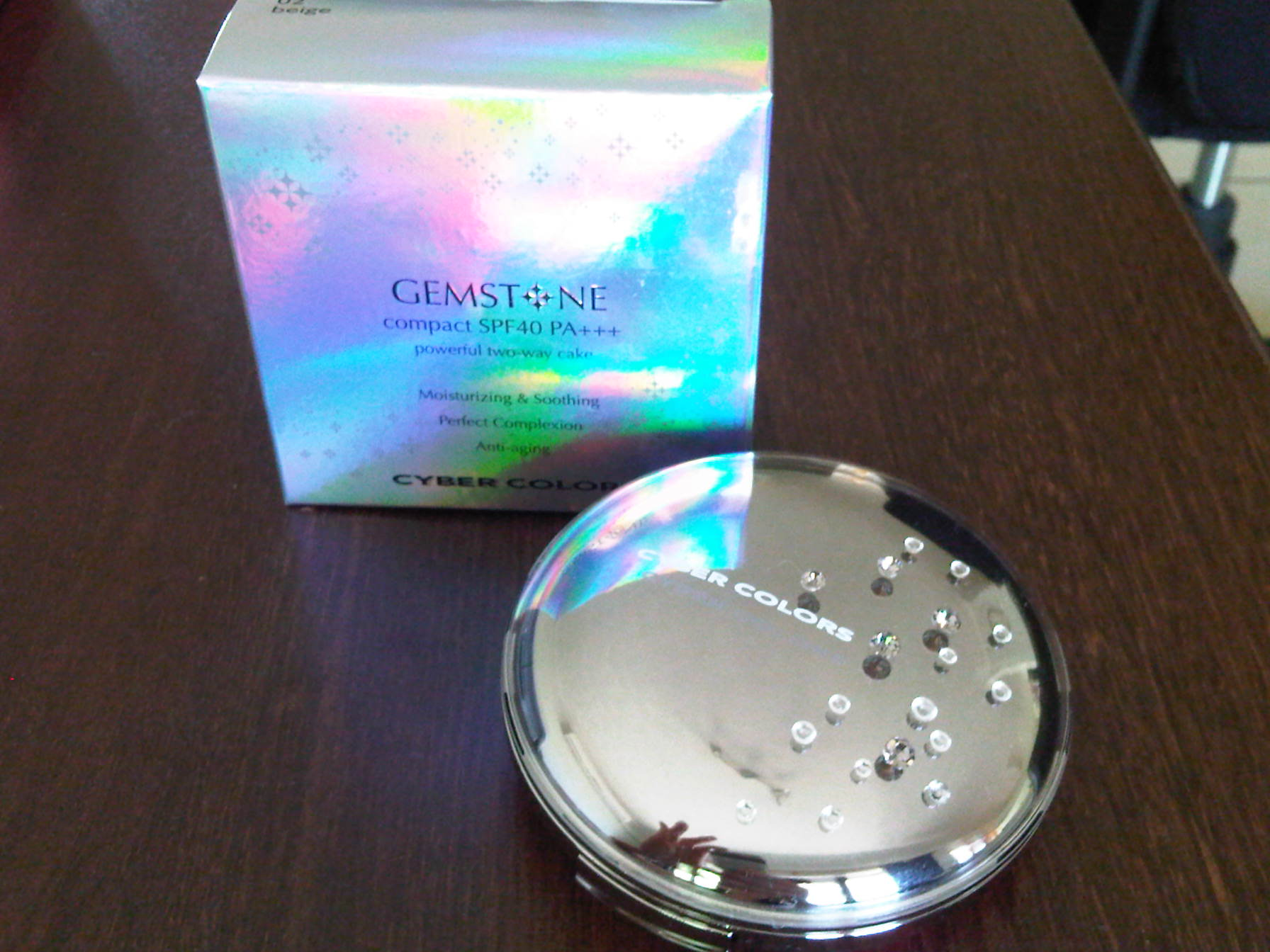 review cyber colors gemstone compact spf40 pa anna cai makeup
